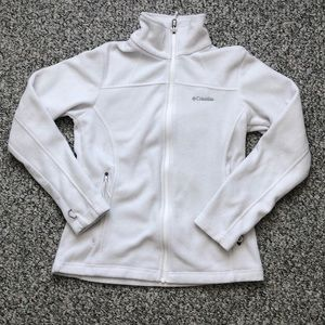 White Columbia Zip Sweatshirt in great condition